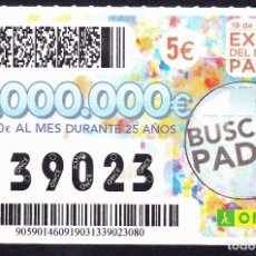 Cupones ONCE: Nº 39023 (19/MARZO/2013) EXTRA DIA DEL PADRE. Lote 97873355
