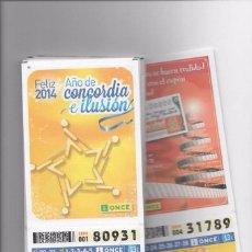 Cupones ONCE: CUPONES ONCE -51 BONOTARJETAS/BONOCUPÓN 2014 ( 5-01-2014 AL 28-12-2014 ) FALTA 28 JULIO A 3 AGOSTO. Lote 98534043