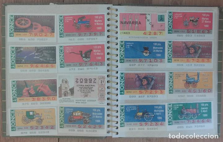 LOTE DE 139 DECIMOS DE LA ONCE Y LOTERIA NACIONAL AÑOS 90 (Coleccionismo - Lotería - Cupones ONCE)