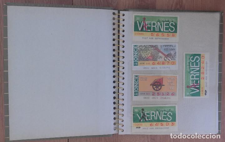 Cupones ONCE: Lote de 139 Decimos de la ONCE y Loteria Nacional Años 90 - Foto 2 - 100313299