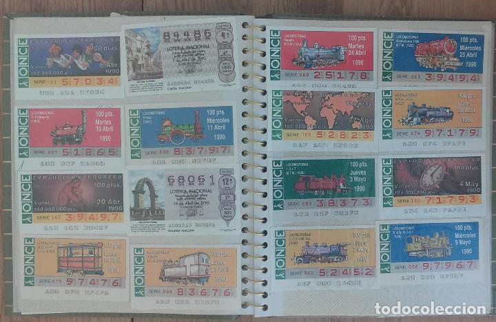 Cupones ONCE: Lote de 139 Decimos de la ONCE y Loteria Nacional Años 90 - Foto 4 - 100313299