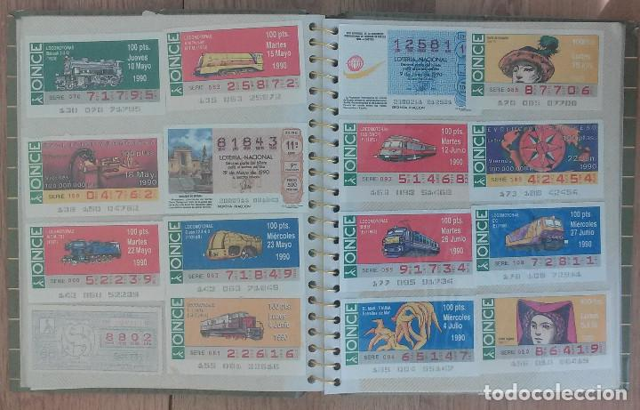 Cupones ONCE: Lote de 139 Decimos de la ONCE y Loteria Nacional Años 90 - Foto 5 - 100313299