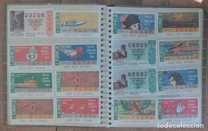 Cupones ONCE: Lote de 139 Decimos de la ONCE y Loteria Nacional Años 90 - Foto 7 - 100313299