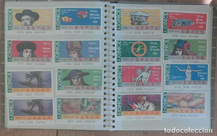 Cupones ONCE: Lote de 139 Decimos de la ONCE y Loteria Nacional Años 90 - Foto 8 - 100313299