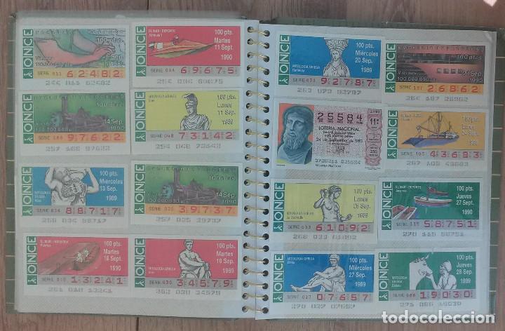Cupones ONCE: Lote de 139 Decimos de la ONCE y Loteria Nacional Años 90 - Foto 9 - 100313299