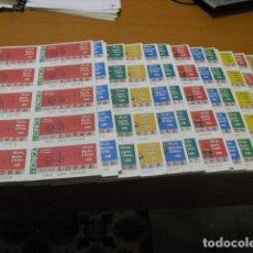 Cupones ONCE: CUPON ONCE, 1990,AÑO COMPLETO EN PLANCHAS DE 10 CUPONES CADA PLANCHA,. Lote 102536171