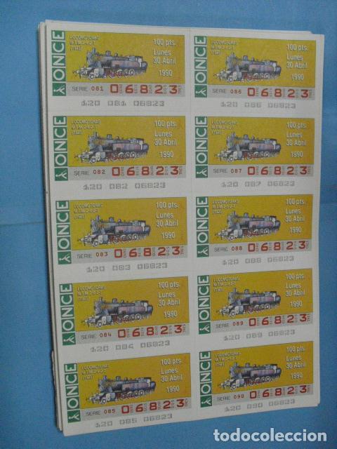 Cupones ONCE: cupon once, 1990,año completo en planchas de 10 cupones cada plancha, - Foto 5 - 102536171