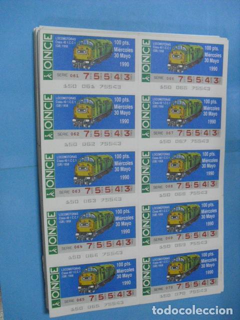 Cupones ONCE: cupon once, 1990,año completo en planchas de 10 cupones cada plancha, - Foto 6 - 102536171