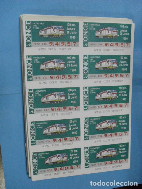 Cupones ONCE: cupon once, 1990,año completo en planchas de 10 cupones cada plancha, - Foto 7 - 102536171
