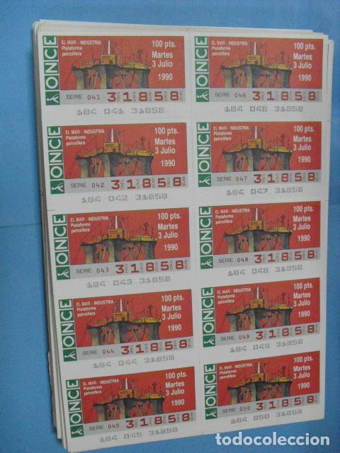 Cupones ONCE: cupon once, 1990,año completo en planchas de 10 cupones cada plancha, - Foto 8 - 102536171