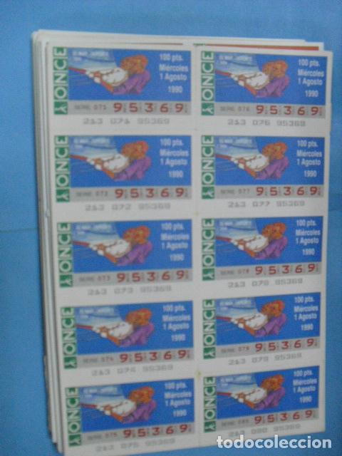Cupones ONCE: cupon once, 1990,año completo en planchas de 10 cupones cada plancha, - Foto 9 - 102536171
