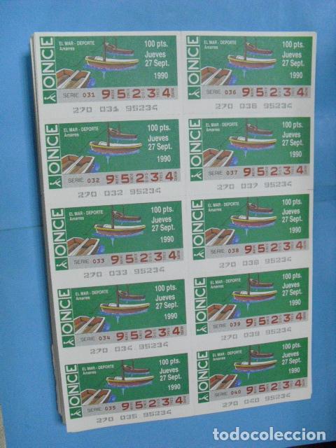Cupones ONCE: cupon once, 1990,año completo en planchas de 10 cupones cada plancha, - Foto 10 - 102536171