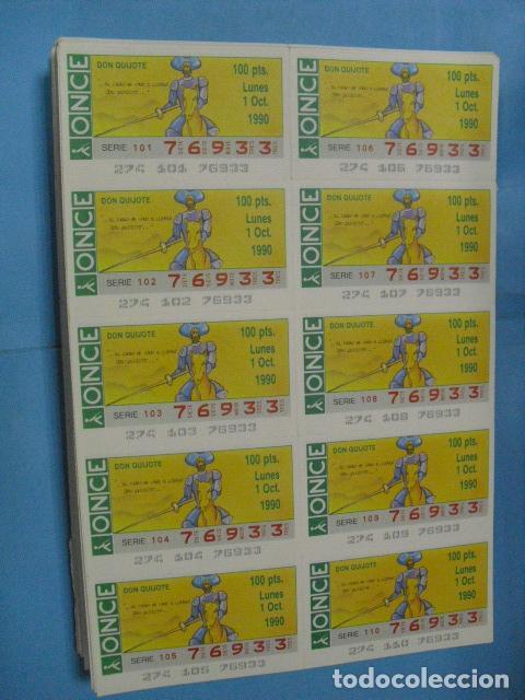 Cupones ONCE: cupon once, 1990,año completo en planchas de 10 cupones cada plancha, - Foto 11 - 102536171