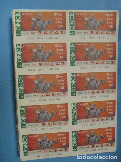 Cupones ONCE: cupon once, 1990,año completo en planchas de 10 cupones cada plancha, - Foto 12 - 102536171