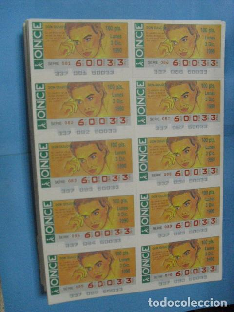 Cupones ONCE: cupon once, 1990,año completo en planchas de 10 cupones cada plancha, - Foto 13 - 102536171