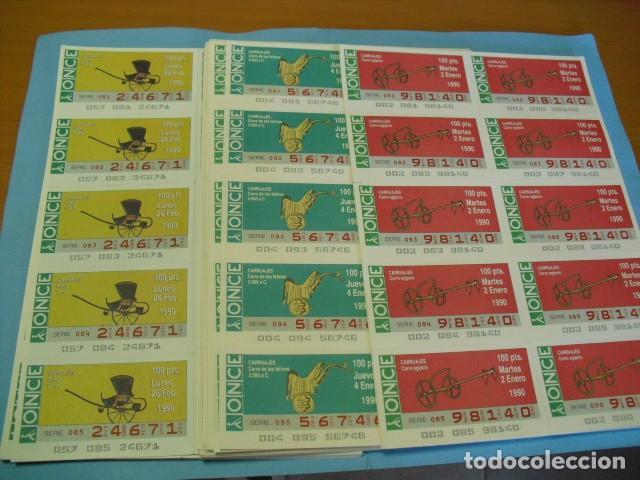 CUPON ONCE,1990,COLECCIÓN COMPLETA DE CARRUAJES,52 PLANCHAS DE 10 CUPONES CADA PLANCHA, (Coleccionismo - Lotería - Cupones ONCE)