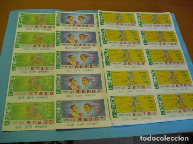 CUPON ONCE 1990, COLECCION COMPLETA SERIE DON QUIJOTE,49 PLANCHAS DE 10 CUPONES CADA PLANCHA (Coleccionismo - Lotería - Cupones ONCE)