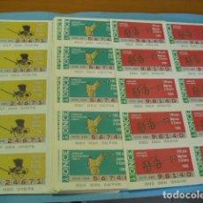 Cupones ONCE: CUPON ONCE 1990, COLECCIÓN COMPLETA DE CARRUAJES, 51 PLANCHA DE 10 CUPONES CADA PLANCHA,. Lote 102581387