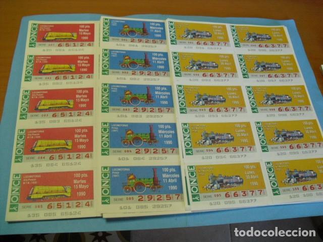 CUPON ONCE 1990, COLECCIÓN COMPLETA DE LOCOMOTORAS, 51 PLANCHA DE 10 CUPONES CADA PLANCHA, (Coleccionismo - Lotería - Cupones ONCE)