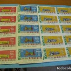 Cupones ONCE: CUPON ONCE 1990, COLECCIÓN COMPLETA DE LOCOMOTORAS, 51 PLANCHA DE 10 CUPONES CADA PLANCHA,. Lote 102582039