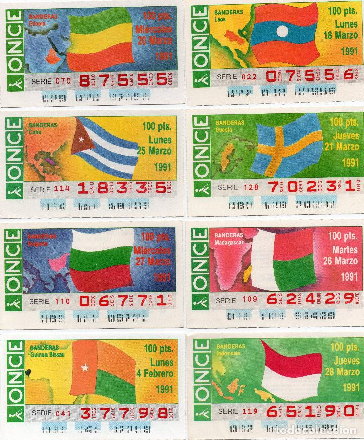 Cupones ONCE: cupones once 1991, serie banderas 50 cupones, serie completa - Foto 2 - 102631367