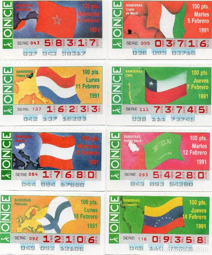 Cupones ONCE: cupones once 1991, serie banderas 50 cupones, serie completa - Foto 3 - 102631367