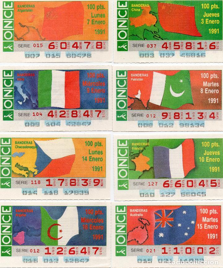 Cupones ONCE: cupones once 1991, serie banderas 50 cupones, serie completa - Foto 5 - 102631367