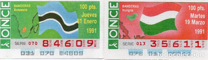 Cupones ONCE: cupones once 1991, serie banderas 50 cupones, serie completa - Foto 7 - 102631367
