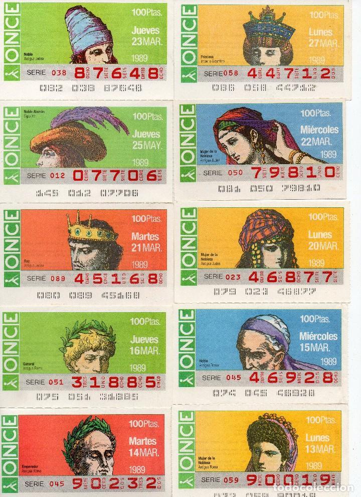 CUPONES ONCE 1989,SERIE SOMBREROS ADORNOS DE CABEZA, SERIE DE 108 CUPONES COMPLETA (Coleccionismo - Lotería - Cupones ONCE)