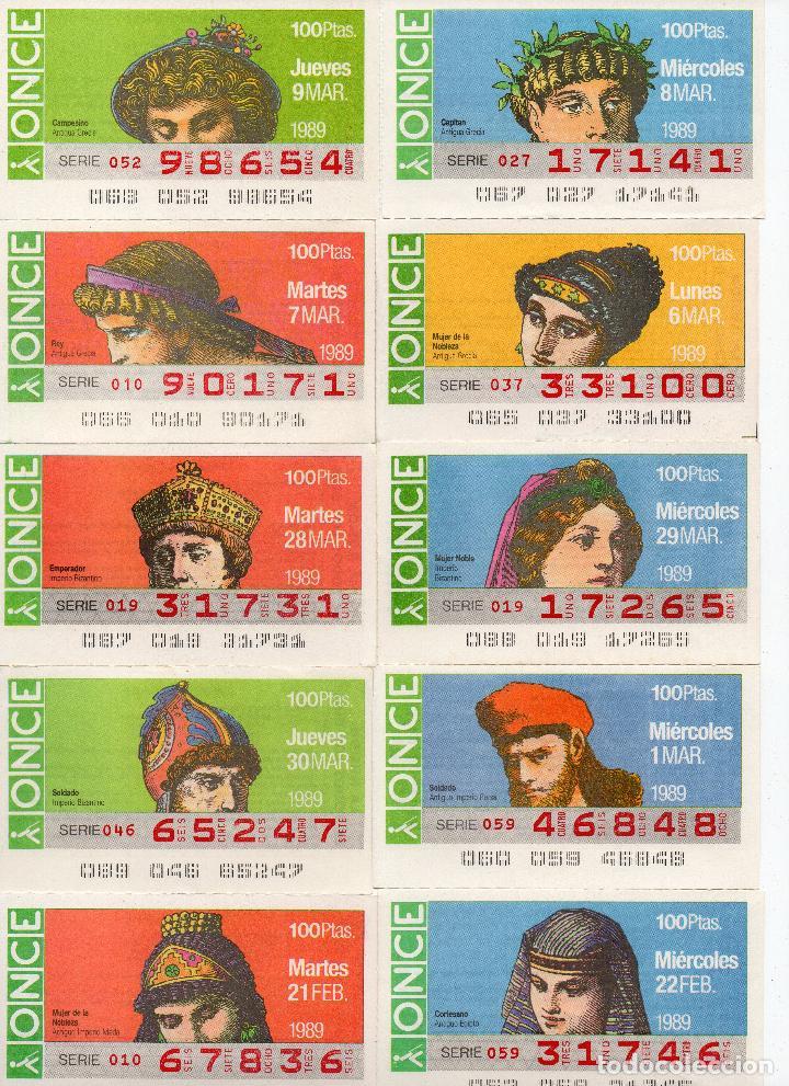 Cupones ONCE: cupones once 1989,serie sombreros adornos de cabeza, serie de 108 cupones completa - Foto 2 - 102712063