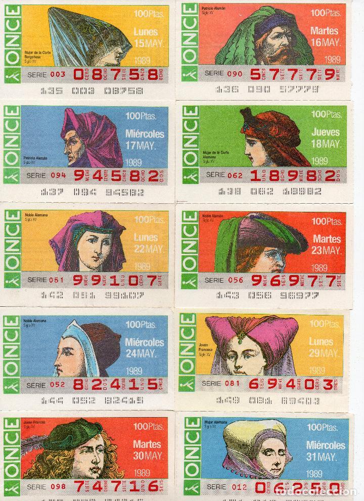 Cupones ONCE: cupones once 1989,serie sombreros adornos de cabeza, serie de 108 cupones completa - Foto 4 - 102712063