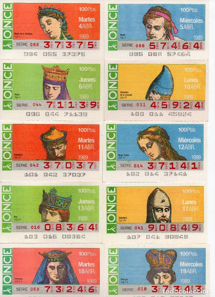 Cupones ONCE: cupones once 1989,serie sombreros adornos de cabeza, serie de 108 cupones completa - Foto 5 - 102712063