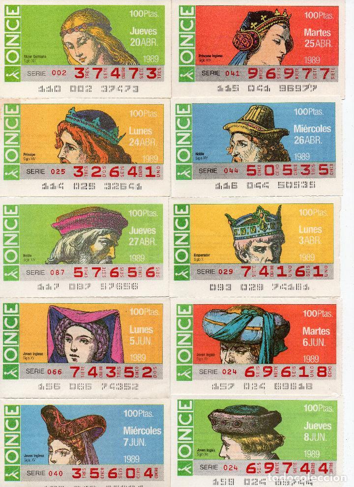 Cupones ONCE: cupones once 1989,serie sombreros adornos de cabeza, serie de 108 cupones completa - Foto 6 - 102712063