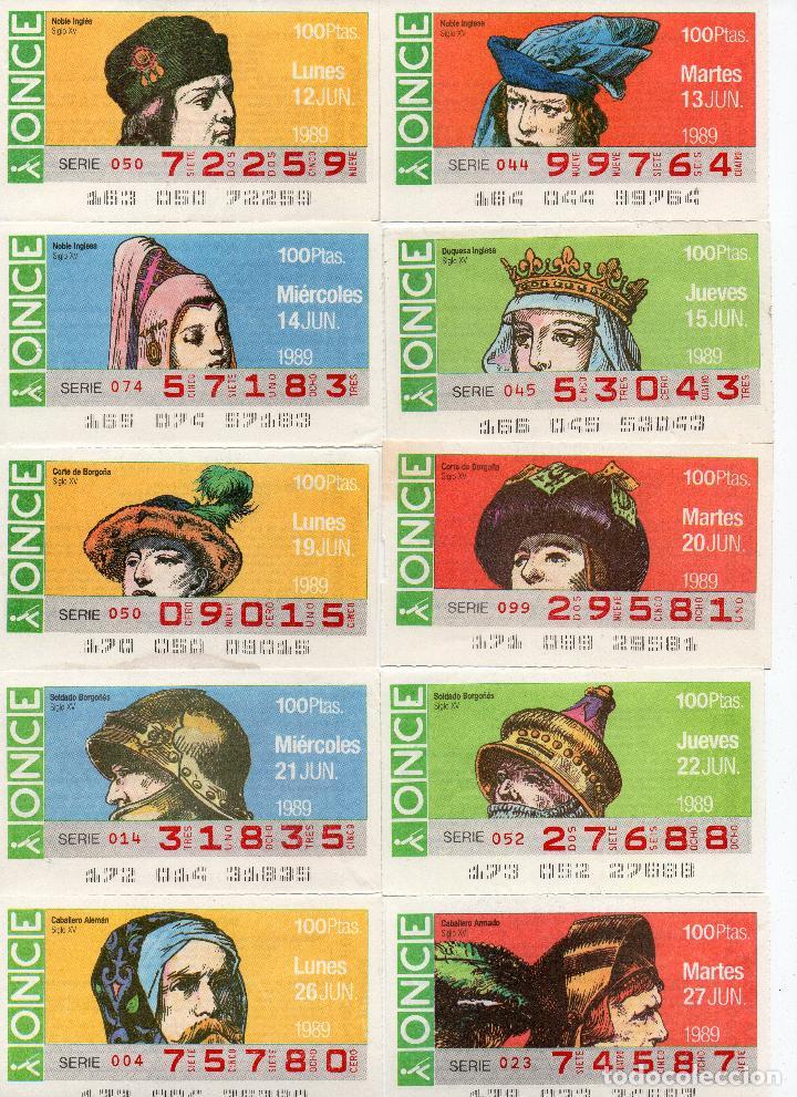 Cupones ONCE: cupones once 1989,serie sombreros adornos de cabeza, serie de 108 cupones completa - Foto 7 - 102712063