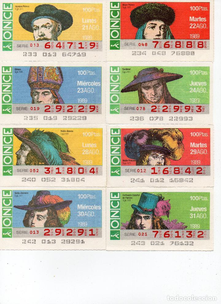 Cupones ONCE: cupones once 1989,serie sombreros adornos de cabeza, serie de 108 cupones completa - Foto 11 - 102712063