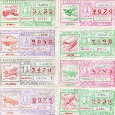 Cupones ONCE: CUPON ONCE 1985,SERIE AVIACIÓN, 68 CUPONES COMPLETA. Lote 102819671