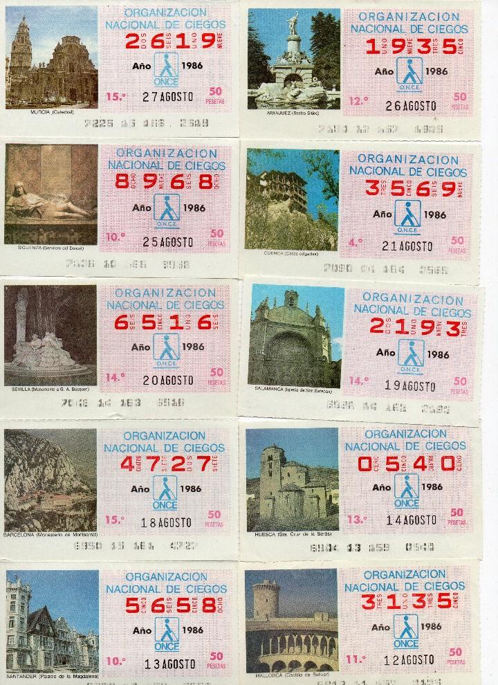 Cupones ONCE: cupon once 1986, serie de monumentos, 76 cupones serie completa - Foto 7 - 103024923