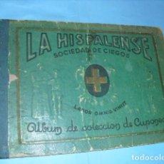 Cupones ONCE: ALBUM DE CUPONES LA HISPALENSE 1934, POR LA PARTE DELANTE SON CROMOS Y POR DETRÁS CUPON,. Lote 103273907