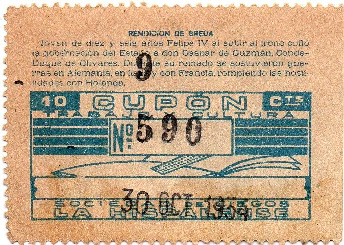 Cupones ONCE: album de cupones la hispalense 1934, por delantes son cromos y por detrás cupones, - Foto 2 - 103275655