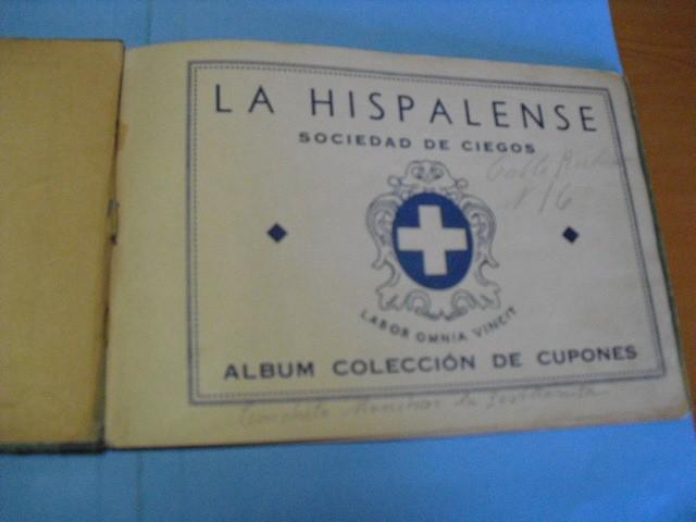 Cupones ONCE: album de cupones la hispalense 1934, por delantes son cromos y por detrás cupones, - Foto 6 - 103275655