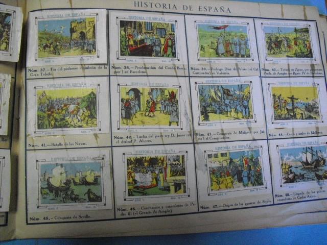 Cupones ONCE: album de cupones la hispalense 1934, por delantes son cromos y por detrás cupones, - Foto 11 - 103275655