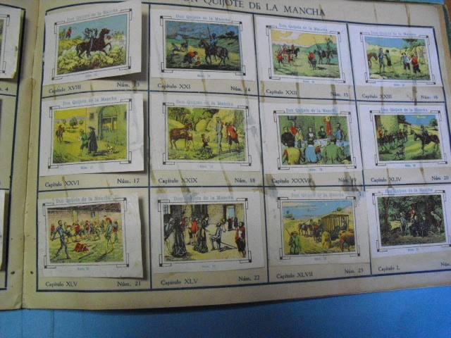 Cupones ONCE: album de cupones la hispalense 1934, por delantes son cromos y por detrás cupones, - Foto 17 - 103275655