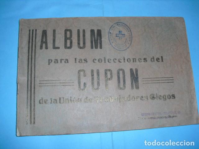 ALBUM CUPON DE LA UNION DE TRABAJADORES CIEGOS, 1933 DE MADRID (Coleccionismo - Lotería - Cupones ONCE)