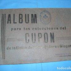 Cupones ONCE: ALBUM CUPON DE LA UNION DE TRABAJADORES CIEGOS, 1933 DE MADRID. Lote 103313311
