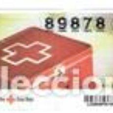 Cupones ONCE: SORTEO DE LA CRUZ ROJA, SERIE 80 DEL 2013. Lote 104370831