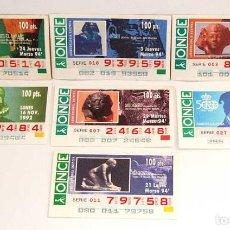 Cupones ONCE: LOTE DE 7 CUPONES DE LA ONCE 1992 Y 1994. Lote 104429635
