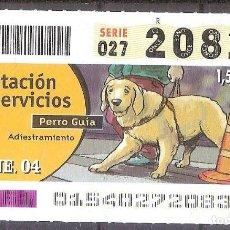 Billets ONCE: ONCE,PRESTACION DE SERVICIOS,15/01/2004.. Lote 107841267