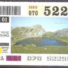 Billets ONCE: ONCE,PARQUES NACIONALES,05/03/2001.. Lote 107941687