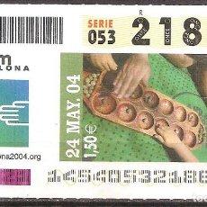 Billets ONCE: ONCE,FORUM BARCELONA 2004,24/05/2004.. Lote 108283575