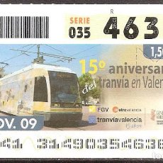 Billets ONCE: ONCE,ANIVERSARIOS,10/11/2009.. Lote 108924383
